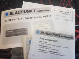 Blaupunkt SQM 23 Hamburg   1983 compleet met origineel bedienungsanleitung