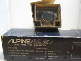 Alpine 4027 Dual Amplifier Balancer