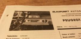 Einbauanleitung Peugeot 404  1968  Blaupunkt autoradio