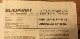 Einbauanleitung Audi 100 1974 Blaupunkt autoradio