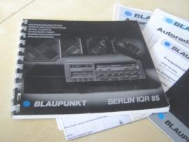 Berlin IQR 85 + zwanehals gebruiksaanwijzing bedienungsanleitung  manual Blaupunkt