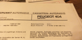 Einbauanleitung Peugeot 404  1967 Blaupunkt autoradio