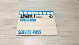 Original Service-Pass BMW Autoradio Bavaria S, 6511-1368627 (24), 1980