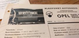 Einbauanleitung Opel Kapitän Admiral Diplomat 1965 Blaupunkt autoradio