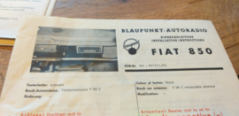 einbauanleitung / installation instructions Fiat 850