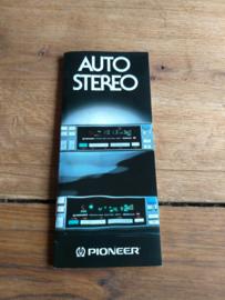 """Ω PIONEER ® folder """"Auto-Stereo 6/84""""  CENTRATE"""
