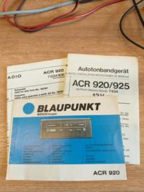 ACR 920/925 Blaupunkt cassettespeler