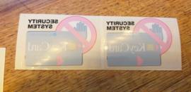 Blaupunkt decal aufkleber sticker keycard