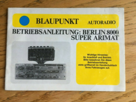 Berlin 8000 Blaupunkt Oldtimer Radio Anleitung Vintage Car Radio Instruction