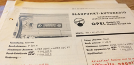 Einbauanleitung Opel Kadett  1966 Blaupunkt autoradio