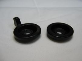 Setje ringen Hoog/laag zwart