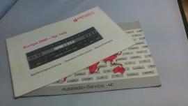 Bedienunsanleitung Becker Europa 2000 - typ BE1100
