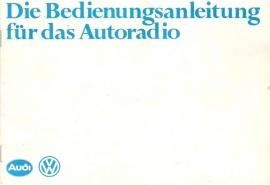 VW / Audi radio`s 1978 gebruiksaanwijzing