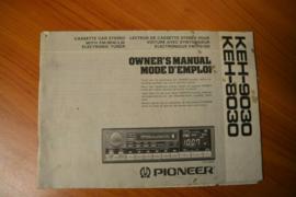Pioneer KEH-8030/KEH-9030 Owner's Manuel