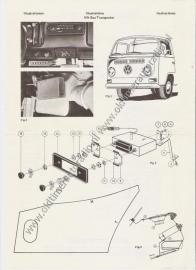 Radio Inbouw VW T2 bus Transporter