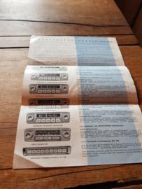 Blaupunkt 1959 autoradio Folder