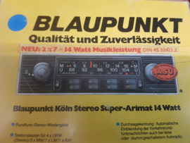 NOS Blaupunkt autoradio Köln stereo Porsche BMW.