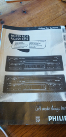 RC 629 659 gebruiksaanwijzing manual Philips  autoradio