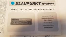 Bremen SQR 45 BLAUPUNKT bedienungsanleitung