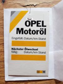 Ölwechselanhänger Ölwechselzettel Inspektionszettel