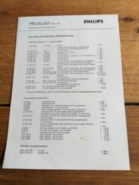 Philips 1971 prijslijst