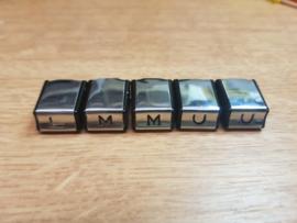 LMMUU chrome/zwart druktoetsen voor Blaupunkt Frankfurt Köln