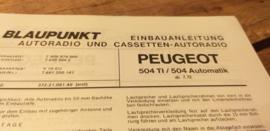 Einbauanleitung Peugeot 504  1972 TI / Automatic Blaupunkt autoradio