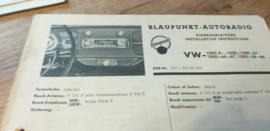 Einbauanleitung VW 1300 Käfer Blaupunkt autoradio 1966