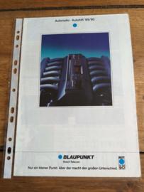 Blaupunkt 1990 folder / poster