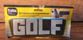 "2 monogramme fur schmutzfanger ""GOLF"""
