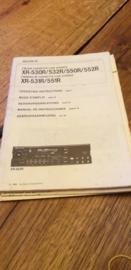 Sony XR-530 532 550 552 531 551 R gebruiksaanwijzing manual betriebsanleitung