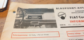 einbauanleitung / installation instructions Fiat 1500 TS coupe