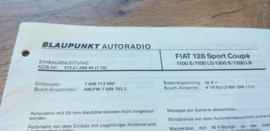 einbauanleitung / installation instructions Fiat 128 Rally Sport Coupe