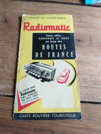 Radiomatic  / Pianstor landkaart Frankrijk / carte routière touristique