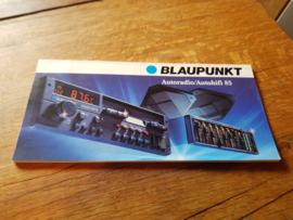 Blaupunkt 1985 autoradio autohifi folder