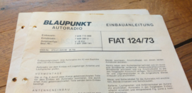 einbauanleitung / installation instructions Fiat 124 6.73