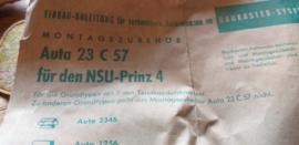 Hirschmann montagezubehor AUTA 23 C 57 NSU  Prinz 1000