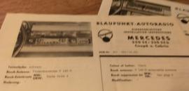 Einbauanleitung Mercedes  250 SE 1965 Blaupunkt autoradio