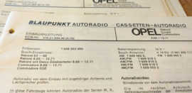 Einbauanleitung Opel Rekord Coupe Commodore 1966-1971 Blaupunkt autoradio