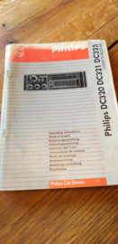 DC 320 321 325 gebruiksaanwijzing manual Philips  autoradio