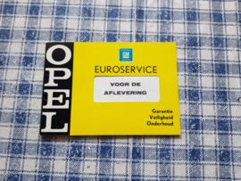 Opel oldtimer service boekje 1969 (niet ingevuld)