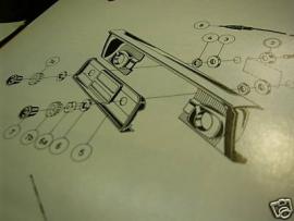 Radio inbouw Peugeot 404 `67