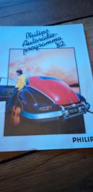 Philips 1982 Folder autoradio progamma + prijslijst o.a. AC 990 MCC