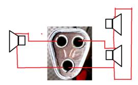 aansluiting luidspreker y serie blaupunkt