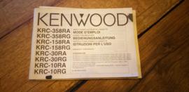 Kenwood KRC-358 gebruiksaanwijzing manual betriebsanleitung