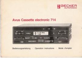 Becker Avus Cassette electronic 714