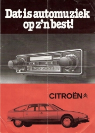 Philips folder/flyer Citroën