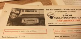 Einbauanleitung BMW 1500 / 1800 / 1800 T.I. 1964 Blaupunkt autoradio