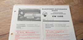 Einbauanleitung VW 1500 Blaupunkt autoradio Mainz