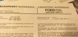 Einbauanleitung Ford  Taunus Cortina 1972 Blaupunkt autoradio